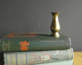 Mini Vase - Teeny Tiny Vintage Brass Vase - Miniature Brass Vase