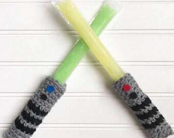 Star Wars Popsicle, Popsicle sleeve, ice pop sleeve, Popsicle holder, party favor, ice pop holder, summer gift, birthday gift