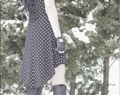 SALE - Dress - Steampunk - Burning Man - Playa Wear - Nautical Dress - Gypsy Bohemian - Polka Dots - Gypsy Boho - Boheme - Size Medium