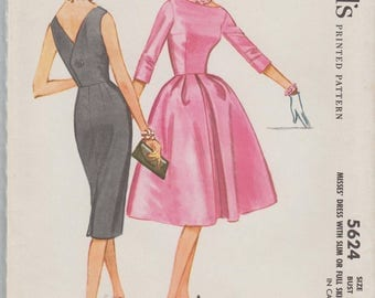McCalls 5624 / Vintage Sewing Pattern / Dress / Size 18 Bust 38