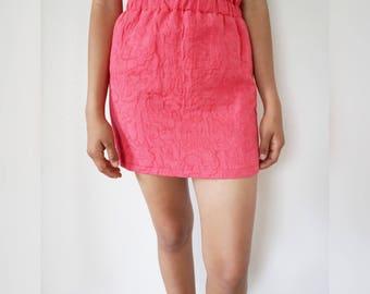 S - Pink Tulip Mini Skirt