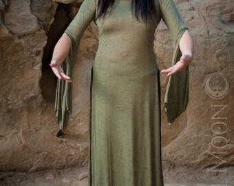 NEW Plus Size Available: The Sage Green Panel Dress by Opal MoonDesigns (Sizes XS- 3XL)