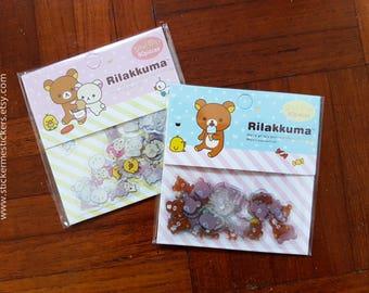 80 PCS, Rilakkuma sticker, Sanrio stickers, Bear stickers, Rilakuma stickers, Sanrio Japan, Rilakkuma, San-X Japan