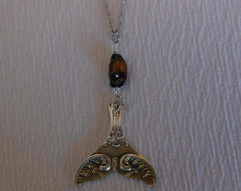Mermaid Tail   Antique Spoon Necklace