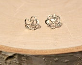 Sterling Silver Infinity Heart Earrings, Eternal Love Post, Stud Earrings, 10mm, Valentines Day Gift,