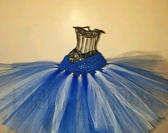 Royal Blue and White Tutu, Blue and White tutu, white and blue tutu, girl's tutu, girls tutu, birthday tutu, wedding tutu, flower girl tutu