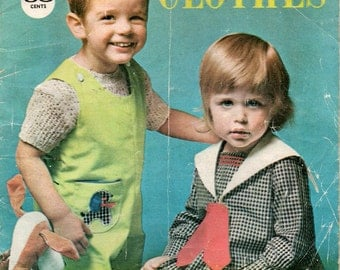 60s Vintage Toddlers Sewing Pattern Drafting Book by Enid Gilchrist 18 months to 4 years Sailor Dress Shirts Pants Playsuit overalls etc