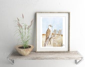 Saker Falcon - Printable Art Print, Digital Download - ALL Proceeds Donated to American Refugee Committee