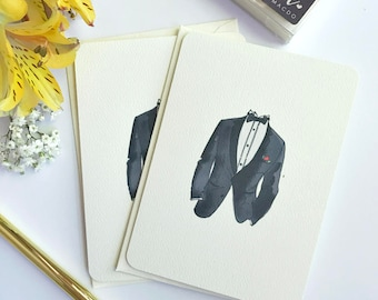 Thank you Groomsmen cards - Groomsman Thank You - Best Man Card - Thank You For Being My Groomsman - Wedding Thank You
