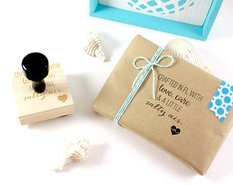 Shop Exclusive - Crafted in Florida with love, care, & a little salty air - rubber stamp with heart