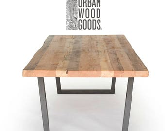 Modern Wood Dining Table in choice of leg style, size, height and finish.  Choose size, style, wood thickness and finish.