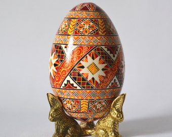 Goose egg pysanka father would love unique handcrafted egg make amazing conversation piece gift for someone who has everything