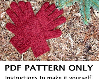 Knitting Pattern - Glove Knitting Pattern - Knitted Gloves Pattern - the DONNA gloves (Teen, Adult sizes)