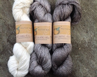 YAK - BOUTIQUE Yarn YETI - Yak and Silk Yarn available in 3 natural shades