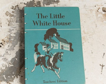1953 WHITE HOUSE Vintage Recycled Book Journal