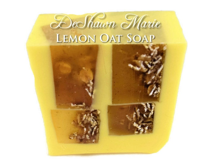 3LB SOAP LOAF - Lemon Soap - Lemon Oat Scrub Soap - Oatmeal Soap - Vegan Soap - Handmade Soap- Soap Gift - Favors - Wholesale Soap
