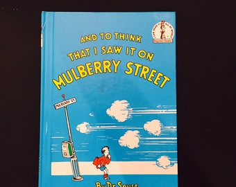 And To Think That I Saw It On Mulberry Street Dr. Seuss 1964 Hardcover Illustrated