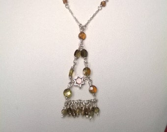 Sterling Silver & Tourmaline Necklace