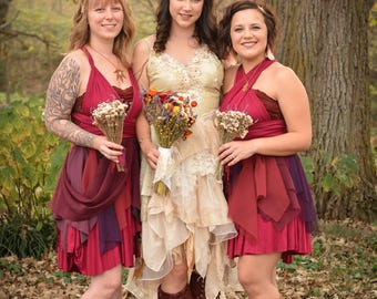 Rustic Bridesmaid Dress, Fairy Bridesmaid Dress, Fairy Costume, Fantasy Wedding Dress, Fall bridesmaid dress, Spring bridesmaid dress