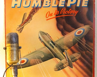 """ON SALE Humble Pie (with Steve Marriott) Vinyl Record LP 1980s British Classic Rock and Roll """"On To Victory"""" (1980 Atco w/""""Fool For A Pretty"""