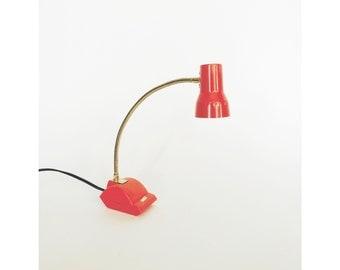 Vintage Pink Gooseneck Desk Lamp