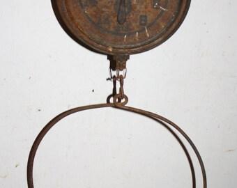 Antique Rusty Farm Produce Scale; Old Farmhouse Country Kitchen Decor