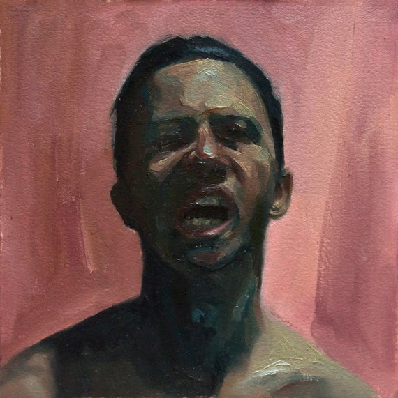 Canon (Thirty-Fourth), 7x7in Oil Painting