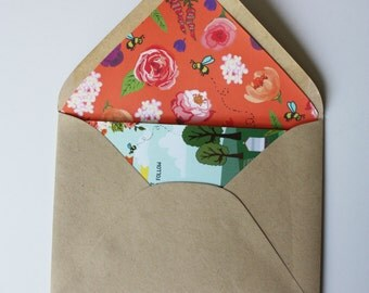 Envelope Liners : Custom Illustrated Wedding Invitations Add-on, Design Fee