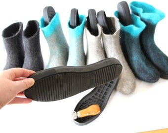 Rubber Sole Footwear Making Supplies, Slipper Soles, Indoors Outdoors Shoe Making Crochet Shoe Sole, Womens Snow Boots Soles UNISEX US 5-10