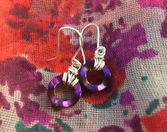 Iridescent Purple Earrings