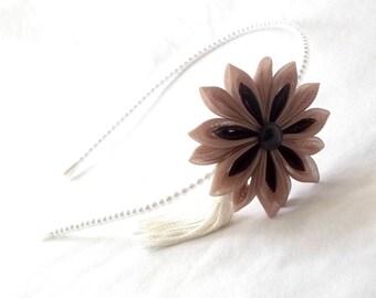 Kanzashi Flower Tassel Pearl Headband