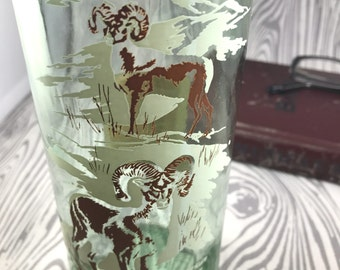 vintage whiskey bottle  decanter wildlife