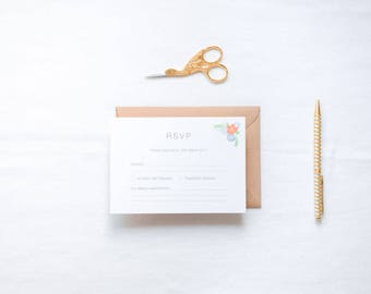 ADD ON: RSVP Cards & Envelopes | Holly Wedding Stationery Collection | Customisable Wedding Invites