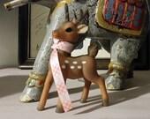 Mid Century Deer Plastic Rubber Figurine