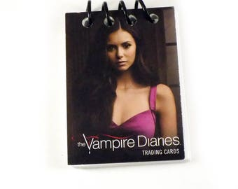 Vampire Diaries Upcycled Season 1 Promotional Trading Card Book Notebook