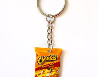Hot Cheetos Keychain Snack Food Junk Food Cute Funny Accessories Gift Idea