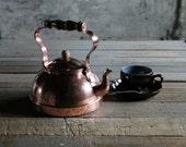 RESERVED - Vintage Portugese Copper Tea Pot / Kettle