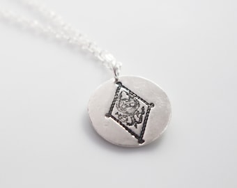 Pi Beta Phi Crest Necklace in Silver // Pi Phi Coat of Arms Necklace // Sorority Crest Necklace // Senior Gifts // Initiation Gifts