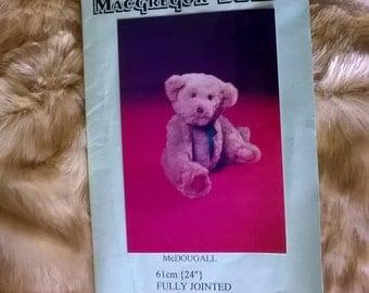 Vintage Large Teddy Bear Kit - by MacGregor Bears