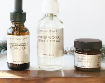 THE BEEFCAKE - Beard Set   Beard Oil, Beard Shampoo, Beard Balm Gift set for Him   Mens Grooming Kit   100% natural and vegan beard set
