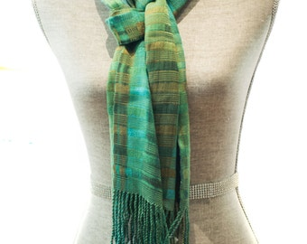 Organic Bamboo Calabe Style hand woven scarf