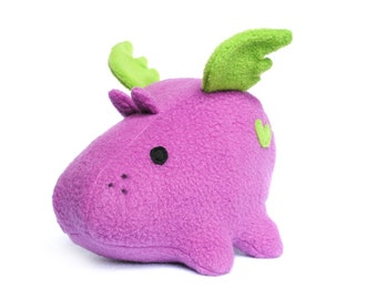Phelddagrif Purple Flying Hippo Plush