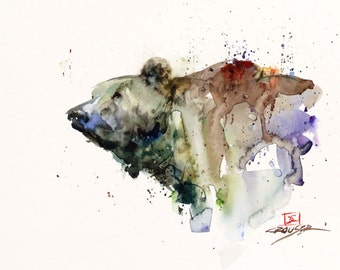 BEAR Watercolor Art Print By Dean Crouser