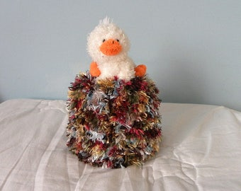 Spare Toilet Paper Roll Cover - Bathroom Tissue Cover - Knitted Toilet Roll Cover - Bathroom Duck
