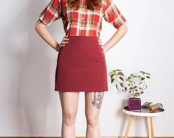 Skirt 1960s Mod mini scooter suedehead Custom made