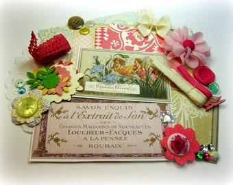 Webster's Pages Girl Land Embellishment Kit, Inspiration Kit, for Scrapbook Layouts Cards Mini Albums and Papercrafts
