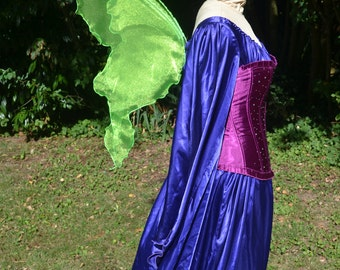 LiME GReeN Fairy WINGS Tinkerbell Mardi Gras parade Adult  or girl s Costume Absinthe witch nymph larp Party elf gypsy boho dress up cosplay
