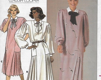 Butterick 3525 Women's Loose-Fitting 80s Dress Sewing Pattern Size 14 Bust 36