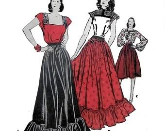 Butterick 3967 Womens 1940s Dance & Daytime Dress Sewing Pattern Bust 32