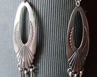 Sterling Silver Native American Earrings Signed Mike Platero